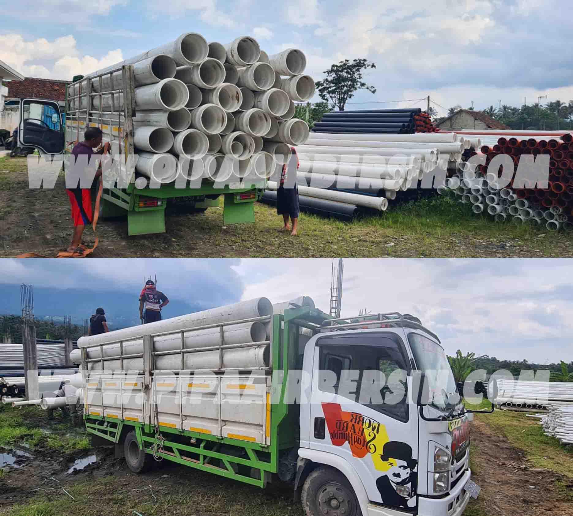 Pengiriman Pipa PVC Safe Lok 12 inch ke Lampung