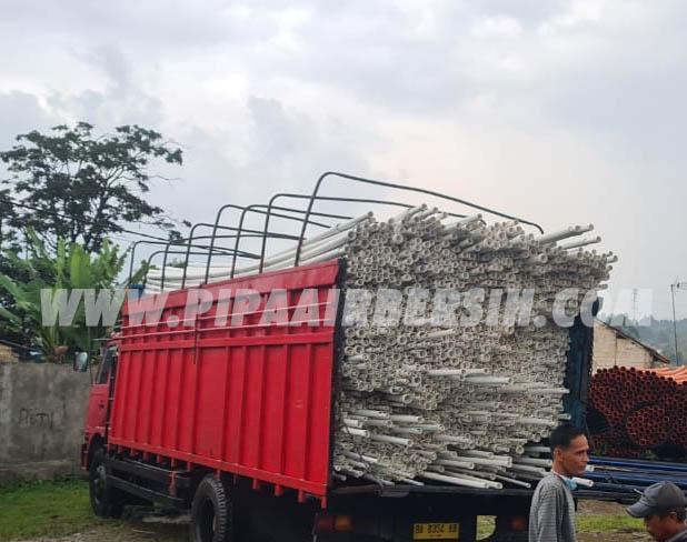 Pengiriman Pipa PVC Safe Lok ke Padang