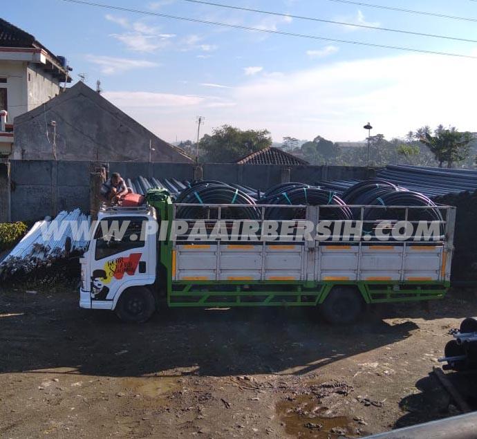 Pengiriman Pipa HDPE / Rucika Black ke Tangerang
