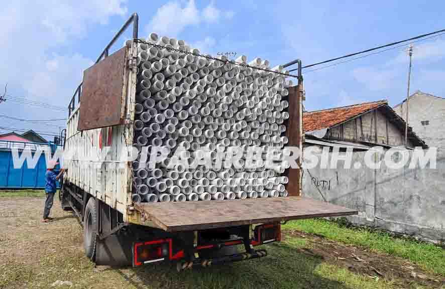Pengiriman Pipa PVC Safe Lok SNI 3 inch ke Purwokerto